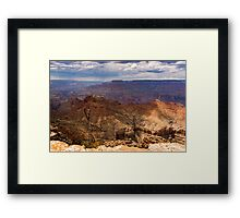 Grand Canyon just before a storm.  Framed Print