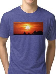 SCREAMING SUNSET RICK AND MORTY  Tri-blend T-Shirt