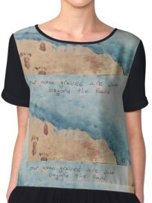 Ocean Graves Chiffon Top