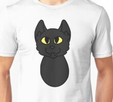 Black Cat Cartoon Headshot Unisex T-Shirt