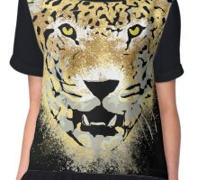 Tiger - Paint Splatters Dubs - Grunge Distressed Design Chiffon Top