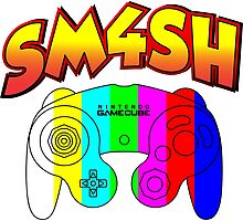 Smash 4 with Gamecube Controller Photographic Print