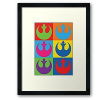 Rebel Alliance Pop Art Framed Print