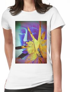 6940 Buddha in Violet and Yellow T Womens Fitted T-Shirt