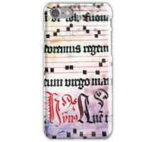 Choral Book Middle Ages - Music Vintage Art Prints Grunge Texture iPhone Case/Skin