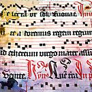 Choral Book Middle Ages - Music Vintage Art Prints Grunge Texture by Denis Marsili