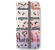 Choral Book Middle Ages - Music Vintage Art Prints Grunge Texture iPhone Wallet/Case/Skin