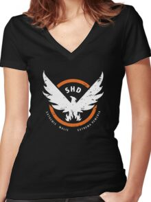 Tom Clancy's The Division: SHD  Women's Fitted V-Neck T-Shirt