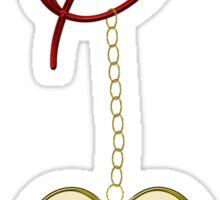 C Golden Heart Locket Sticker
