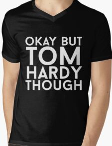 Tom Hardy - White Text Mens V-Neck T-Shirt