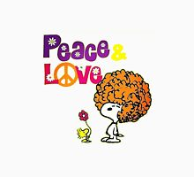 snoopy peace & love Unisex T-Shirt