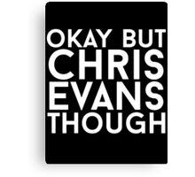Chris Evans - White Text Canvas Print