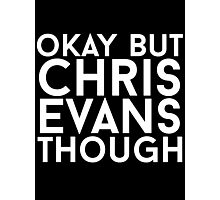 Chris Evans - White Text Photographic Print