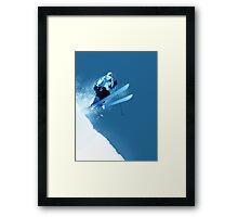 Ski in Powder Framed Print