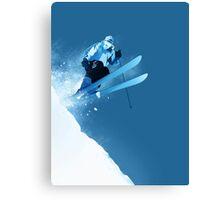 Ski in Powder Canvas Print