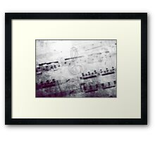Music! Treble clef with Grunge Vintage Texture - DJ Retro Music  Framed Print