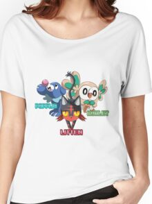 Litten Rowlet and Popplio Women's Relaxed Fit T-Shirt