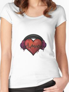 love of music Women's Fitted Scoop T-Shirt