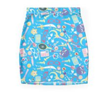 Sailor Moon Items Collage Blue  Mini Skirt