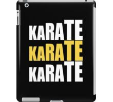 Karate Karate Karate iPad Case/Skin