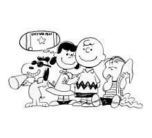 snoopy with family Photographic Print