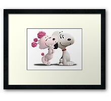 snoopy with love Framed Print