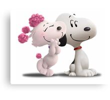 snoopy with love Canvas Print