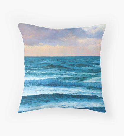 Ocean painting - Dusk over the Ocean Throw Pillow