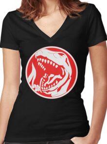 Tyrannosaurus! Women's Fitted V-Neck T-Shirt