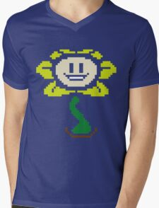 Flowey color Mens V-Neck T-Shirt