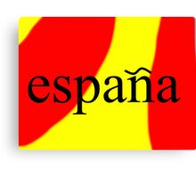 Espana - Spain Canvas Print