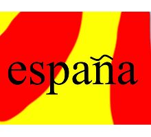 Espana - Spain Photographic Print