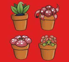 Poke-pot plants by Bowieisgod