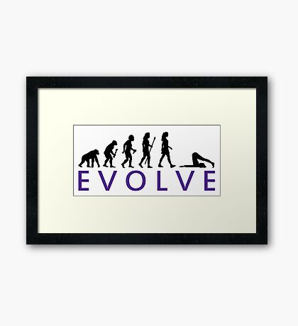 Funny Yoga Evolution  Framed Print