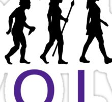 Funny Yoga Evolution  Sticker