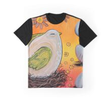 Nesting Bird Graphic T-Shirt