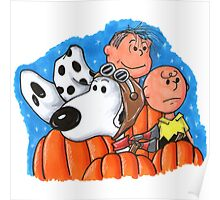 1snoopy and charlie brown Poster
