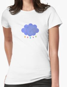 Happy cloud Womens Fitted T-Shirt