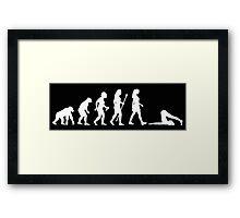 Evolution of Yoga - White Framed Print