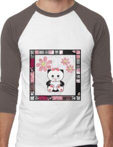 Cat kids animal illustration background Men's Baseball ¾ T-Shirt