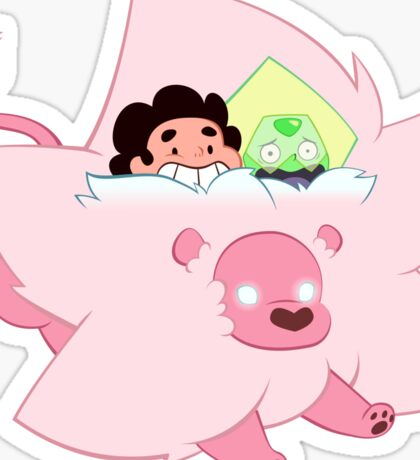Tiny Lion with Peridot and Steven Sticker