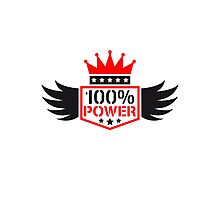 100% power King wing coat of arms Photographic Print