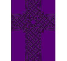 TCS3C Celtic Cross on Purple Photographic Print