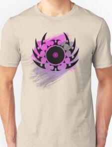 Retro Vinyl Records - Vinyl With Paint and Tribal Spikes - Music DJ TShirt Unisex T-Shirt
