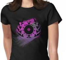 Retro Vinyl Records - Vinyl With Paint and Tribal Spikes - Music DJ TShirt Womens Fitted T-Shirt
