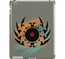 Retro Vinyl Records Music - Vinyl With Paint and Tribal Spikes - DJ TShirt iPad Case/Skin