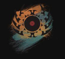 Retro Vinyl Records Music - Vinyl With Paint and Tribal Spikes - DJ TShirt Kids Tee