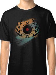 Retro Vinyl Records Music - Vinyl With Paint and Tribal Spikes - DJ TShirt Classic T-Shirt