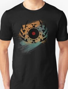 Retro Vinyl Records Music - Vinyl With Paint and Tribal Spikes - DJ TShirt T-Shirt