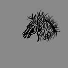 Tribal Horse Cool Vector T-Shirt and Stickers by Denis Marsili
